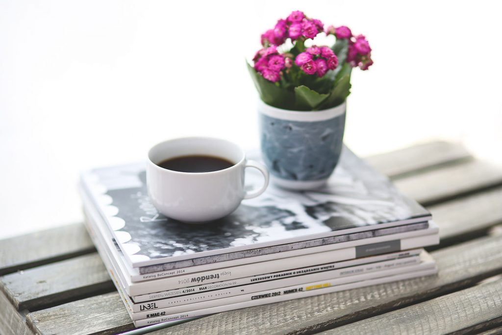 Coffee Cup Magazine Image